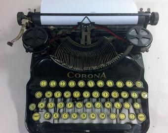 Vintage Corona Four Typewriter