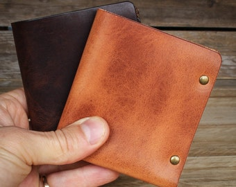 Leather Wallet, Bifold Wallet, Horween Leather, Mens Bi-Fold Wallet, Mens wallet, Leather Accessories, Handmade Wallet