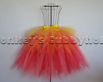 Flames and Fire Tutu - Adult Sized