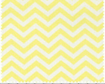 David Textiles Baby Chevron Pastel Yellow Quilting Fabric By The Yard