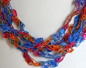 On Sale! Caribbean - Crocheted Necklace