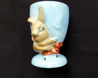 Vintage Bunny rabbit ceramic eggcup Japan