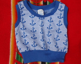 Vintage 1970s Anchors Away Baby Tank ADORABLE