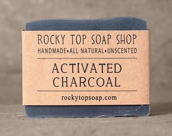 Activated Charcoal Soap, Acne Soap, Soap, Natural Soap, Cold Process Soap, Artisan Soap, Unscented Soap, Rustic Soap, Vegan Soap, Face Soap