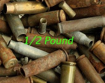 Junk BULLET Shell Casings - Spent Empty Rustic Ammo Gun Rifle Shells 4 Arts Crafts, Collage Sculpture Junk Bullet Shells  JBS-1/2***
