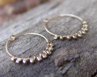 Small Gold Hoops, Small Gold Hoop Earring, Hammered Gold Hoop Earrings, Gold Hoop Earrings, Thin Gold Hoop Earrings