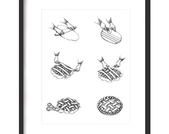 Lattice Pie Print