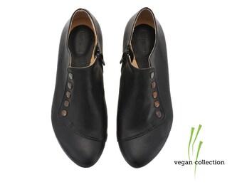 Vegan Grace black shoes, Handmade vegan shoes