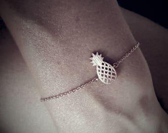 Delicate tiny rose gold plated Pineapple bracelet anklet