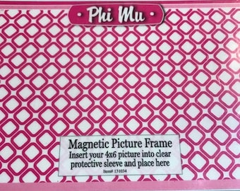 Phi Mu Magnetic Picture Frame