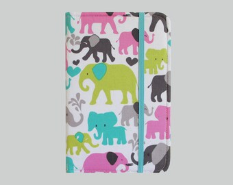Kindle Cover Hardcover, Kindle Case, eReader, Kobo, Kindle Voyage, Kindle Fire HD 6 7, Kindle Paperwhite, Nook GlowLight Bright Elephants