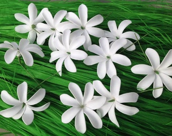 Tiare Flower.  Beautiful Hair Pick Flower For Beach Wedding, Luau, Gift. Perfect For Girls Of All Ages.