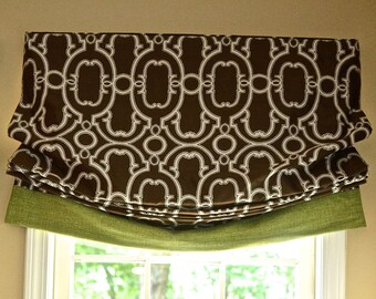 Sample Sale Relaxed  roman shade with banding