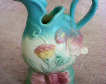 Hull Pottery Bowknot Pattern Vase or Ewer - 4655