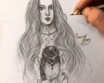 Girl with an Owl