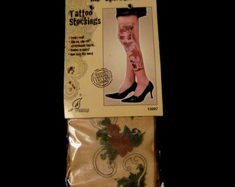 Vintage mid 1990s Tattoo Stockings. Unopend. One Size