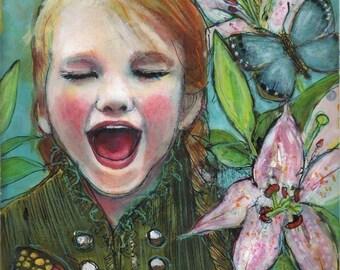 Joy ACEO art reproduction -