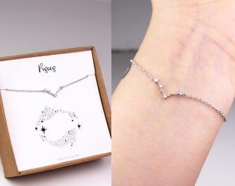 Pisces bracelet, horoscope bracelet, zodiac bracelet, zodiac pisces, zodiac jewelry, constellation bracelet, Pisces jewelry, birthday gift