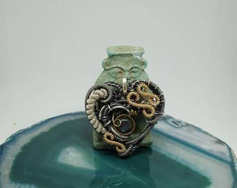 Freestyle Labradorite heart pendant