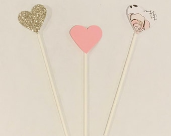 Heart drink stirrers