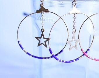 golden earrings, big ring