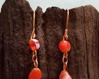 Orange and copper