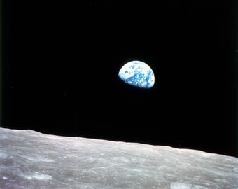 Earthrise As Seen From Apollo 8 NASA Space Print Picture - 7X5, 10x8 or A4 Photo