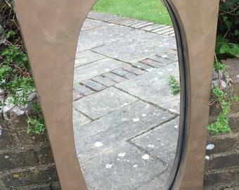 Industrial Style Metal Mirror