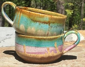 Ceramic Cappuccino Mug - Ocean Love