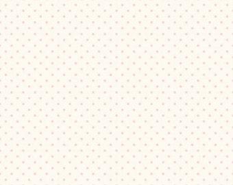 Riley Blake Designs, Swiss Dots in Cream Baby Pink  (C600 75)