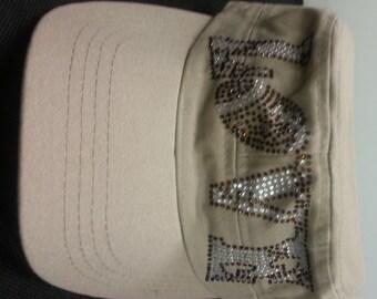 Football Rhinestone hat