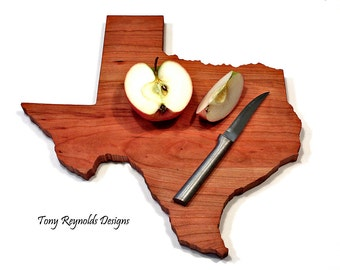 Texas Personalized Cutting Board Wedding Gift Rustic Home Decor Housewarming  Hostess Foodie Christmas