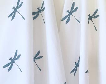 Tea Towel - Dish Towel - Hand Printing - Dragonfly