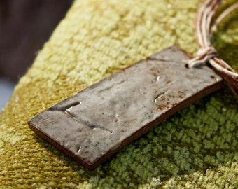 Ghost of Spring 10 - rustic stoneware necklace