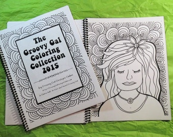 The Groovy Gal Coloring Collection 2015 Set One 20 page Coloring Book