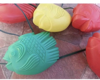 RV Patio String Lights Fish Blow Mold