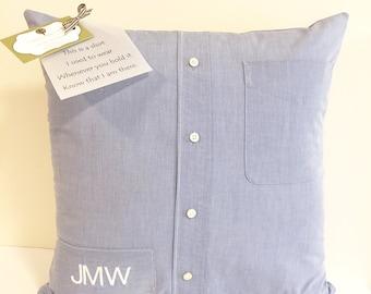 Memory Pillow, Keepsake Pillow, Memorial Pillow, Shirt Pillow