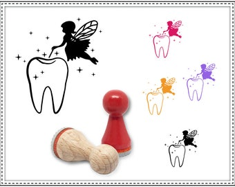 Rubber stamp TOOTH FAIRY Ø 15 mm
