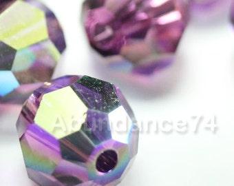 16 pcs Swarovski Elements - Swarovski Crystal Beads 5000 6mm Round Ball Beads - AMETHSYT AB