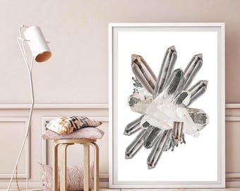 Mineral Photography - (Print # 100) Crystal Collage  - Fine Art Print - Two Paper Choices- Mineral Geode Agate Crystal Decor