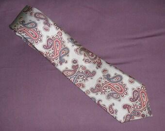 1960s Vintage Tattersall Silk Paisley Necktie