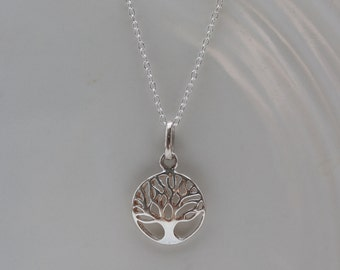 Tree of Life Sterling Silver Necklace, yoga jewelry
