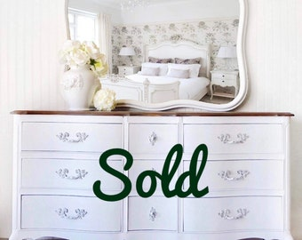 Sold****French provincial dresser, white, glamorous, victorian, vintage, buffet, changing table