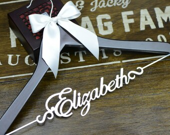 Wedding Gift, Wedding Hanger, Bridal Shower Gift, Wedding Dress Hanger, Bridesmaid Gift, Bridal Party Gift, Gift for Bride, Bride Hanger