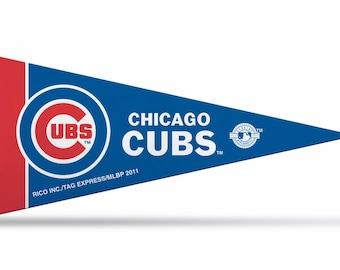 "Chicago Cubs MLB Mini Pennant, 4"" x 9"""