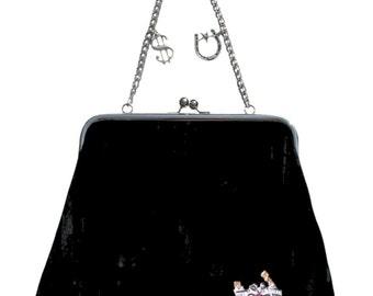 Couture Vintage Jet Set inspired Handbag. Handmade in the USA- Lucky Horseshoe