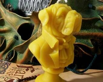 English Bulldog Bust Beeswax Candle Composer Series