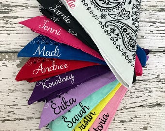Personalized Bandana // Custom Bandana // Team Bandanas // Group Bandanas // Party Bandanas