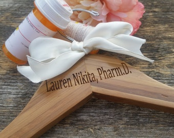 Graduation  Pharmacist Gift,  Personalized Hanger, Lab Coat,  Gifts Wrapped