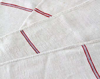 antique homespun grain sack, European feed sacks fabric